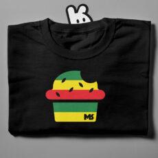 Munchies-folded black t-shirt