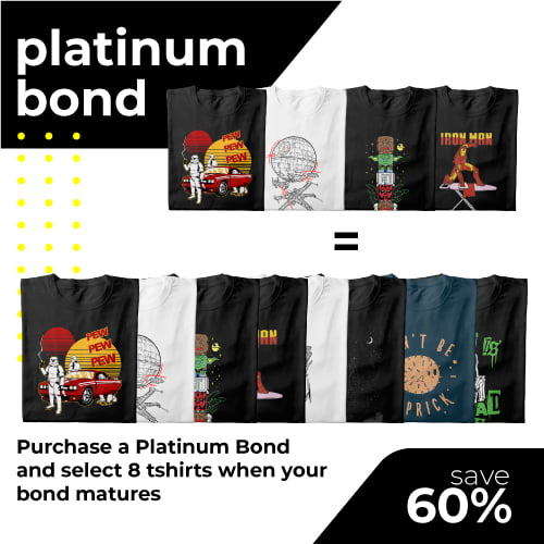 tshirt terrorist platinum t-shirt bond for online shop