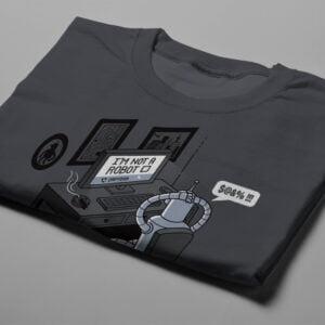 Robot Problems Bender Futurama Gamma-Ray Graphic Design Men's Tee - charcoal - folded short