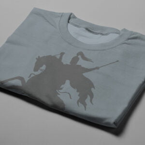 Think Big Chess Illustrated Gamma-Ray Graphic Design Men's Tee - steel grey - folded short