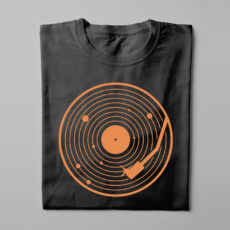 Vinyl Music Gamma-Ray Graphic Design Men's Tee - black - folded long