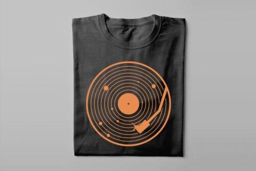 Vinyl Music Gamma-Ray Graphic Design Men's Tee - black - folded long