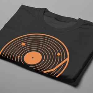 Vinyl Music Gamma-Ray Graphic Design Men's Tee - black - folded short