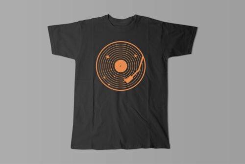 Vinyl Music Gamma-Ray Graphic Design Men's Tee - black