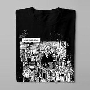 Neon Church Luke Molver Nero Illustrated Men's Tee - black - folded