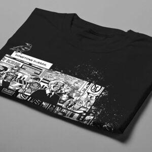 Neon Church Luke Molver Nero Illustrated Men's Tee - black - folded short