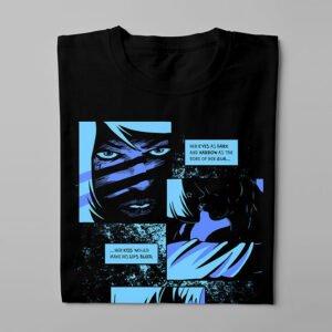Bloody Kisses Luke Molver Nero Illustrated Men's Tee - folded long