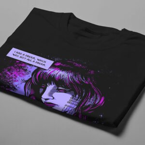Darkling Space Luke Molver Nero Illustrated Men's Tee - black - folded short