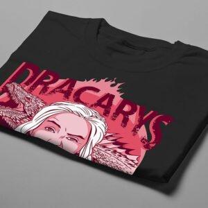 Dracarys Bitches Game of Thrones Luke Molver Illustrated Men's Tee - black - folded short