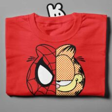 garfield-folded red t-shirt