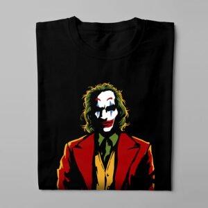Joker Luke Molver Illustrated DC Comics Fan Art Men's Tee - black - folded long