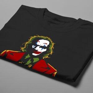 Joker Luke Molver Illustrated DC Comics Fan Art Men's Tee - black - folded short