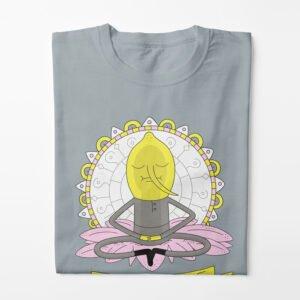 Lemongrab Adventure Time Illustrated Happy Chicken Fitness Cult Men's Tee - steel - folded long