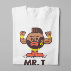Mr T Illustrated Happy Chicken Fitness Cult Men's Tee - white - folded long