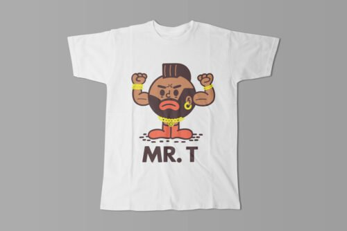 Mr T Illustrated Happy Chicken Fitness Cult Men's Tee - white