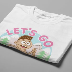 Let's Go Offline Illustrated Happy Chicken Fitness Cult Men's Tee - white - folded short