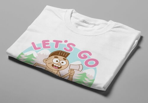 Let's Go Offline Illustrated Happy Chicken Fitness Cult Men's Tee - white - folded short