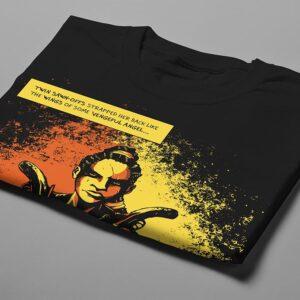 Sawn Offs Luke Molver Nero Illustrated Men's Tee - black - folded short