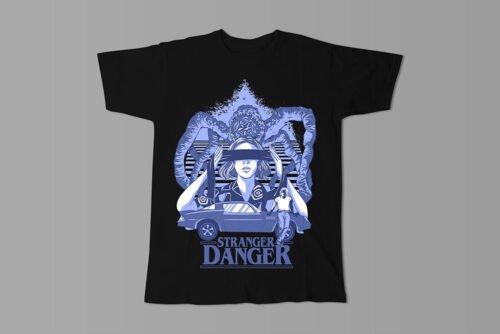 Stranger Danger Luke Molver Illustrated Men's Tee - black