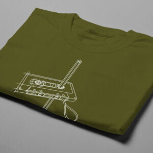 Tape and Pencil 80s Illustrated Jade Holing Men's Tee - olive - folded short