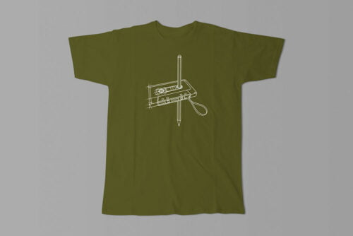 Tape and Pencil 80s Illustrated Jade Holing Men's Tee - olive