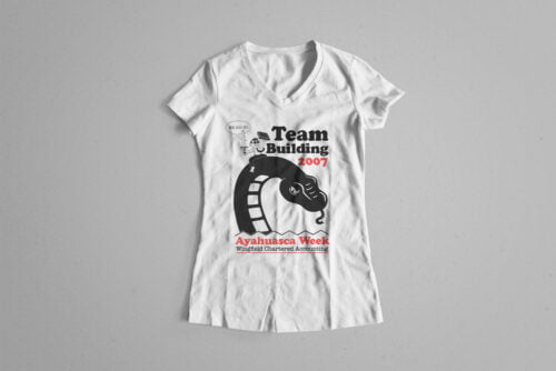 Team Building Illustrated Happy Chicken Fitness Cult Ladies' Tee - white