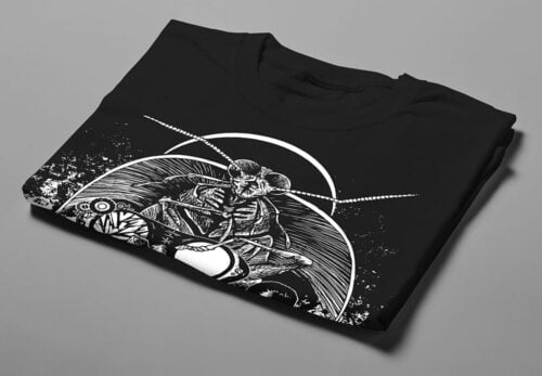 Uneasy Dreams Luke Molver Nero Illustrated Men's Tee - black - folded short