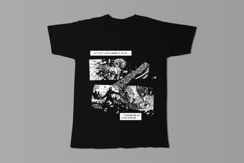 Uneasy Dreams Luke Molver Nero Illustrated Men's Tee - black - back