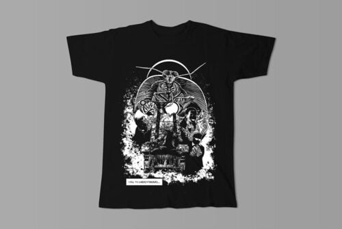 Uneasy Dreams Luke Molver Nero Illustrated Men's Tee - black - front