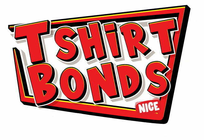 Red Tik Tok text Style Effect for t-shirt bonds