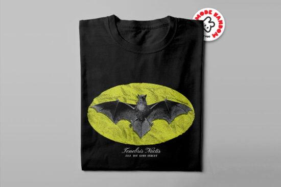 Batman Symbol Dark Knight Illustrated Mode Random Men's Tee - black - folded long