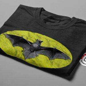 Batman Symbol Dark Knight Illustrated Mode Random Men's Tee - black - folded short