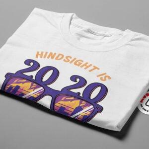 2020 Hindsight Illustrated Mode Random Men's Tee - white - folded short