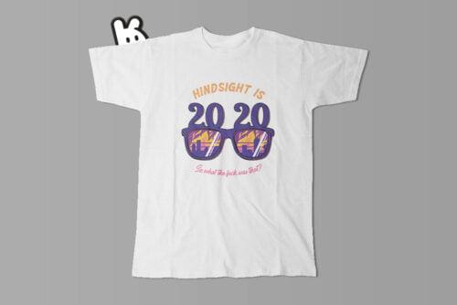 2020 Hindsight Illustrated Mode Random Men's Tee - white