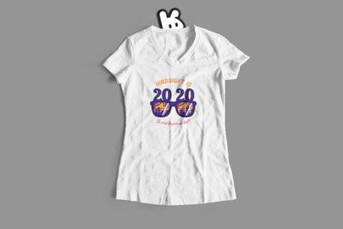 2020 Hindsight Illustrated Mode Random Ladies' Tee - white