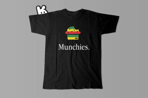 Munchies Apple Logo Illustrated Mode Random Men's Tee - black