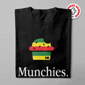 Munchies Apple Logo Illustrated Mode Random Men's Tee - black - folded long