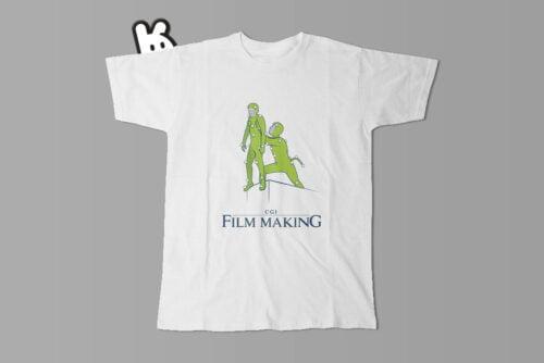 Lion King CGI Film Making Illustrated Mode Random Men's Tee - white