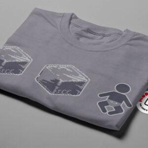 Ice Ice Baby Illustrated Mode Random Men's Tee - steel - folded short
