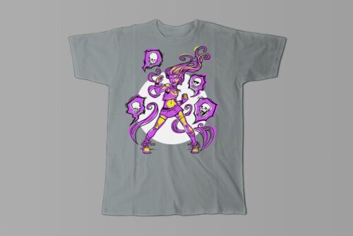 Power Metal Girl Fable Forge Illustrated Men's Tee - steel