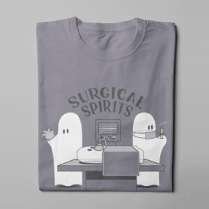 Surgical Spirits Funny Tshirt Terrorist Men's Tee - steel - folded long