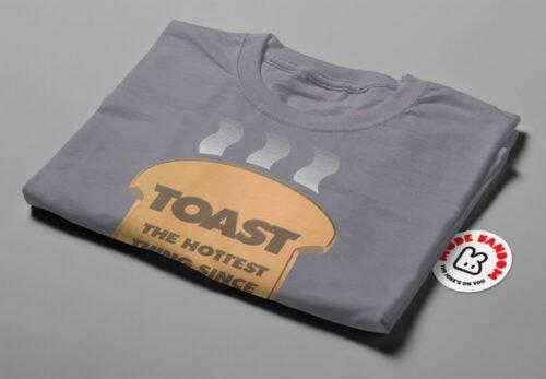 Toast Funny Mode Random Men's Tee - steel - folded short