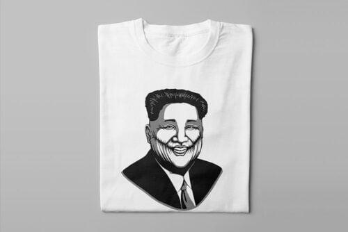 Kim Jong-un Stencil Men's Tee - white - folded long