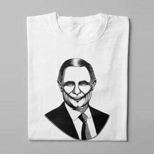 Vladimir Putin Stencil Men's Tee - white - folded long
