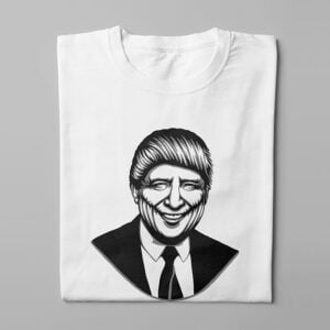Trump Stencil Men's Tee - white - folded long
