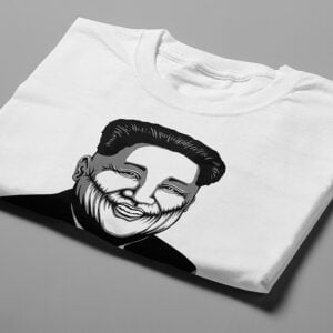 Kim Jong-un Stencil Men's Tee - white - folded short