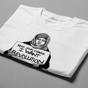 Revolution Stencil Men's Tee - white - folded short