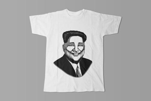 Kim Jong-un Stencil Men's Tee - white