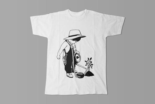 Social Entrapment Stencil Men's Tee - white
