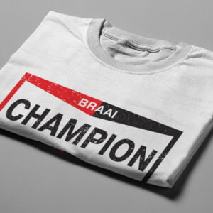 Champion Spark Plugs Braai Spoof Men's Tee - white - folded short